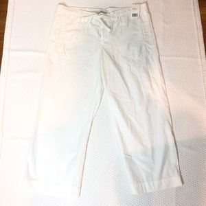Vince Crop Pants Drawstring Lightweight White NWT